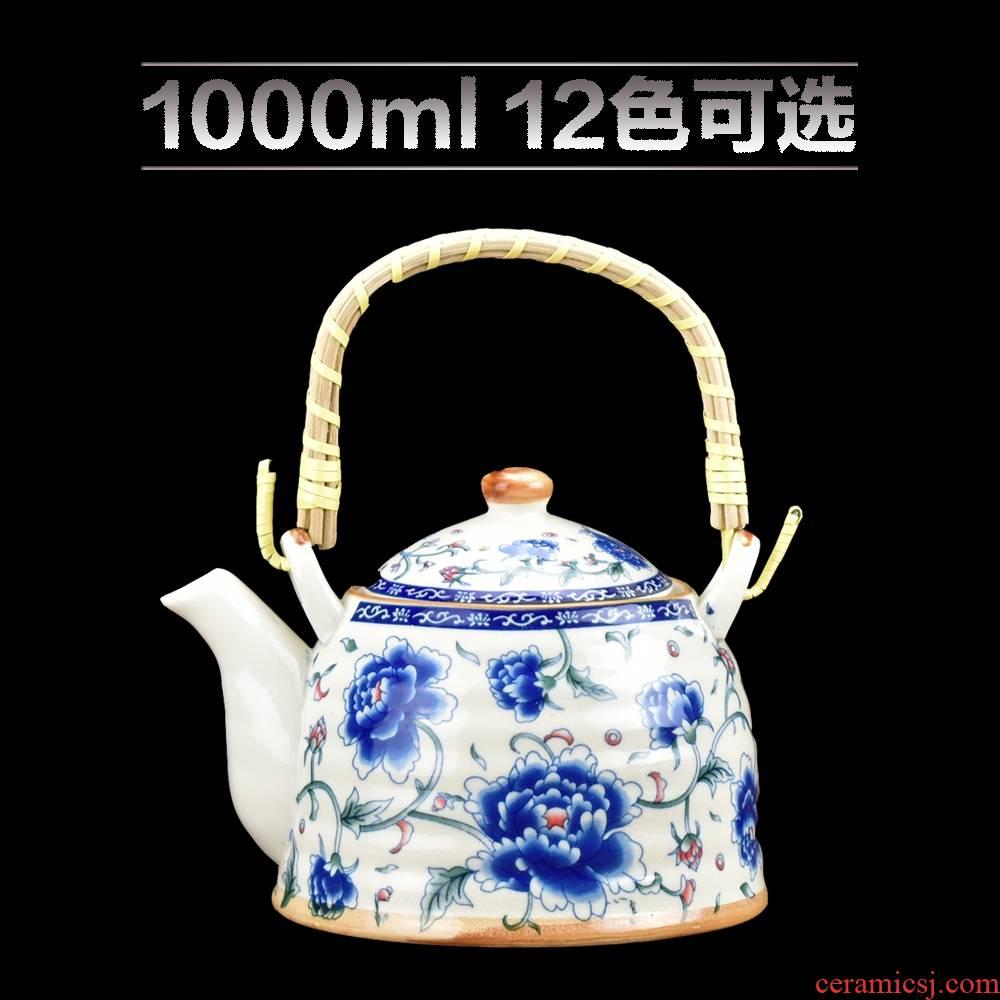 Large capacity ceramic teapot hotel restaurant ltd. Large household porcelain teapot with filter kettle