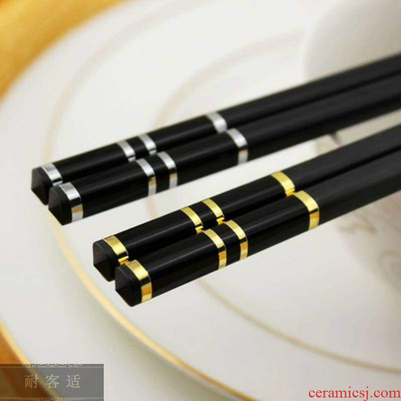 Direct guest comfortable and healthy household antiskid hold alloy chopsticks tableware Chinese nonmetal environmental gift chopsticks chopsticks 1 hotel