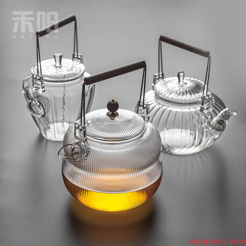 Send Yang filtering pot of boiling water glass teapot tea pot of boiled tea household kunfu tea heat large glass girder