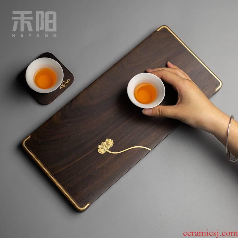 Send Yang ebony dry plate saucer mat wood pot pot bearing sets of kung fu tea tray was home doing mercifully tea table