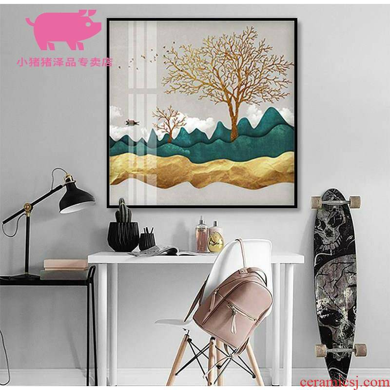 1 the study about the sitting room the bedroom light key-2 luxury restaurant decoration square crystal porcelain painting abstract corridor wall paintings.