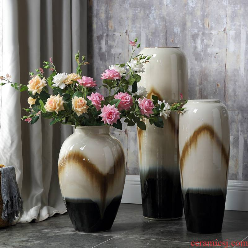 European ceramic vase of large sitting room lucky bamboo flower arranging porcelain household act the role ofing is tasted hotel retro creative furnishing articles