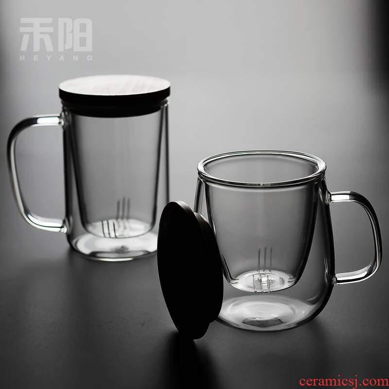 Send Yang Japanese tea separation. The creative household contracted move make tea glass office glass filter