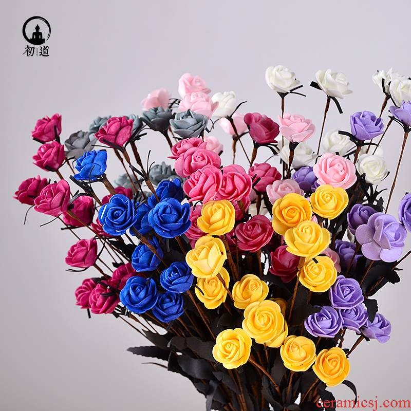 European furnishing articles simulation dry flower pot set decoration indoor table plastic artificial flowers sitting room tea table household decoration