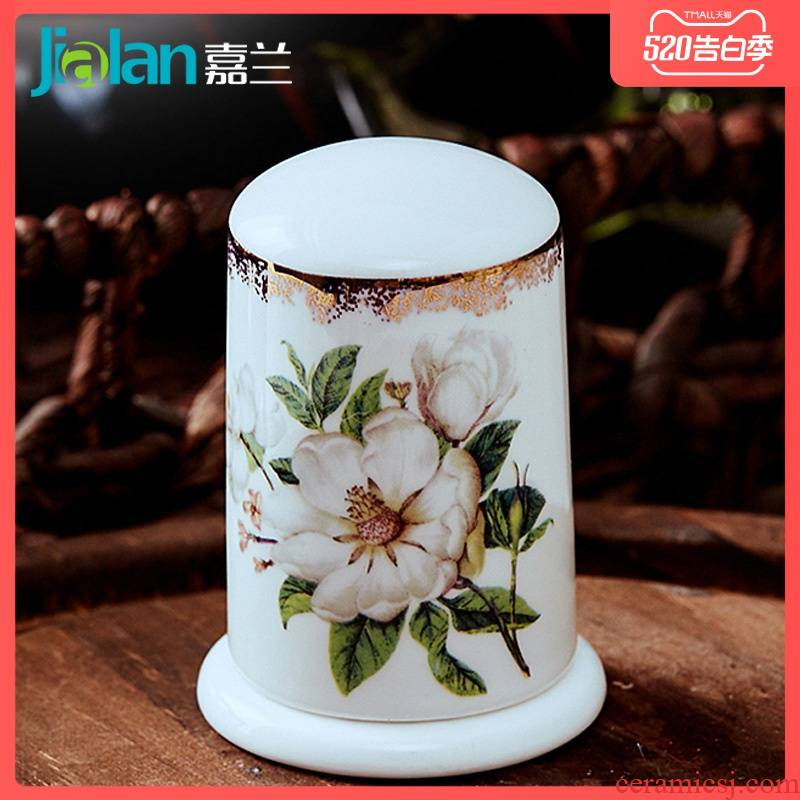 Garland Chinese ipads porcelain with cover toothpicks can of toothpick box ceramic creative waterproof toothpicks