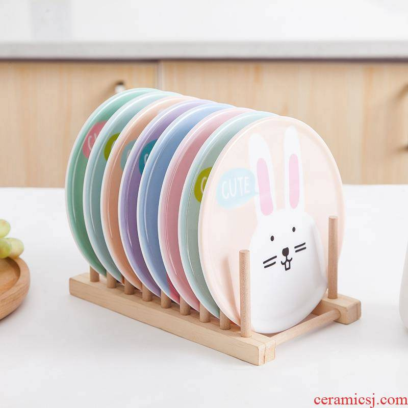 8 with cartoon beautiful porcelain insulation to hold pan MATS eat mat cup mat melamine table ironing mat plate as can be washed
