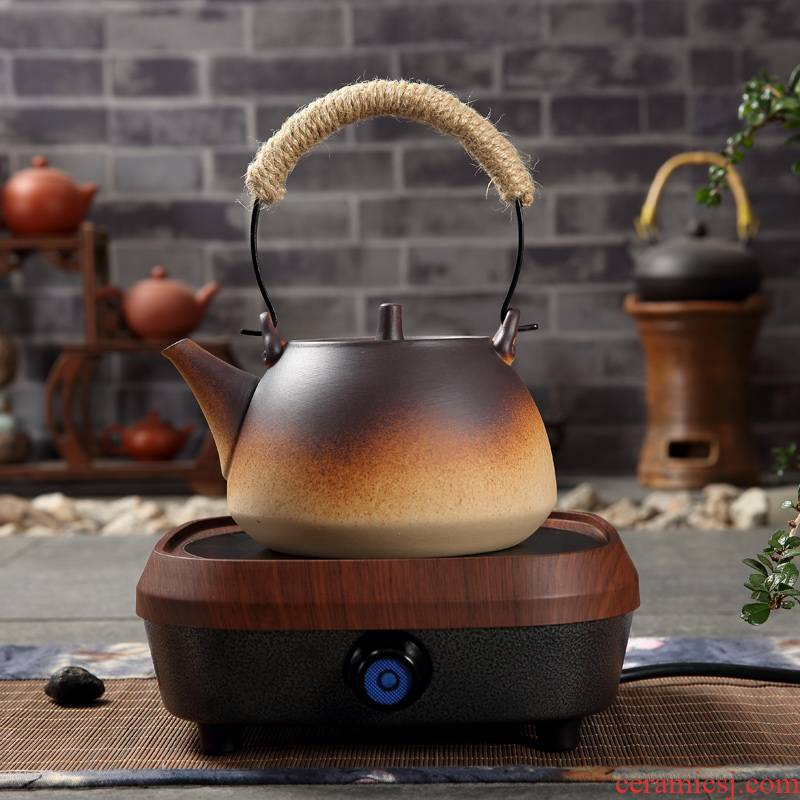 Kung fu tea kettle boil tea exchanger with the ceramics with coarse ceramic company - thermal TaoLu is suing the fire gas single ceramic POTS