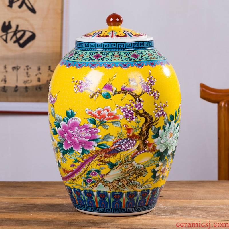 Ricer box, 50 kg pack with cover oil cylinder cylinder tank can save m ceramic barrel 25 kg flour box