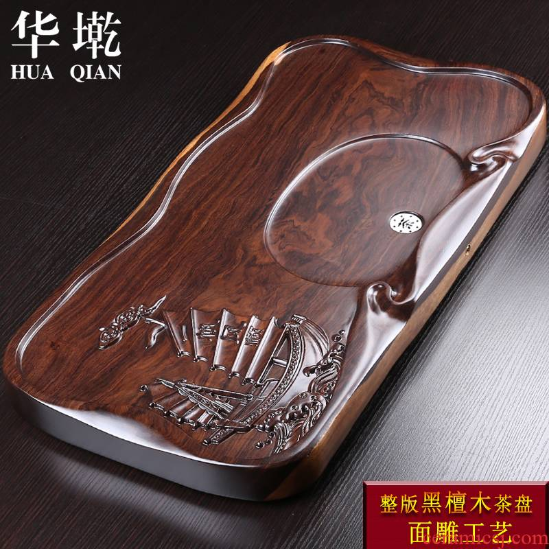 China Qian tea ebony wood piece of log drainage consolidation type annatto tea tea, the head of household saucer