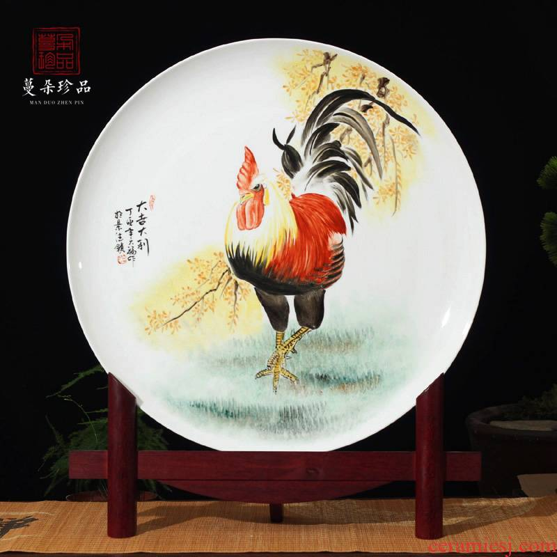 Jingdezhen prosperous the cock picture porcelain figure porcelain furnishing articles furnishing articles rooster double chicken