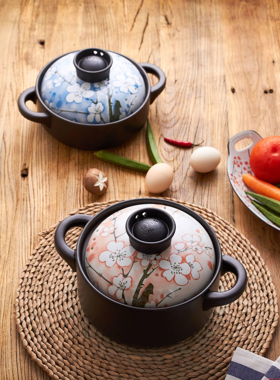 Orange leaf ceramic high - temperature Japanese soup rice casseroles, crock simmering casserole flame household gas cooker