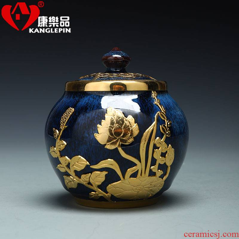 Recreational product an inset jades of jingdezhen ceramic tea pot small mini portable wake POTS sealed tank