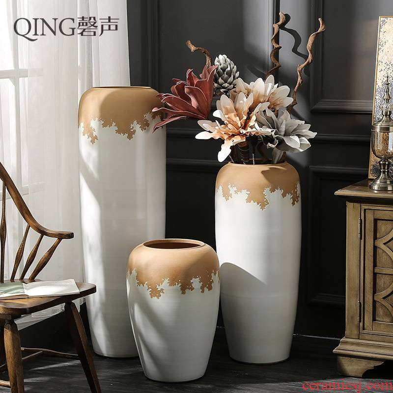 Ceramic furnishing articles contracted and I sitting room of large vase hotel villa flower arranging dried flower porcelain decoration decoration