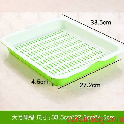 Creative continental plate of plastic double rectangle drop fruit bowl tea tray cups pallet to their plates sitting room