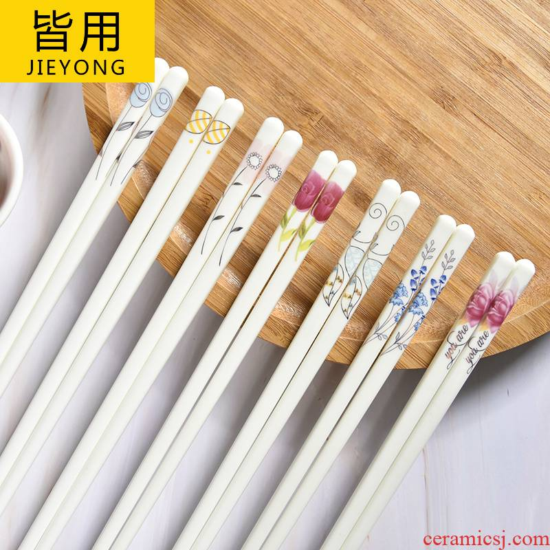 Household ceramics chopsticks chopsticks gifts sets high - grade ipads China porcelain high temperature resistant tachyon mouldproof green Chinese style delicate