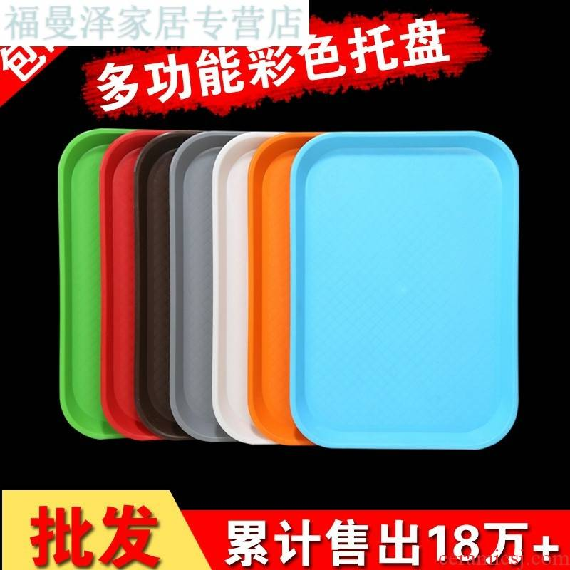 Basin, small white simple plastic rectangular square household square plate tray was mini indoor ground plate
