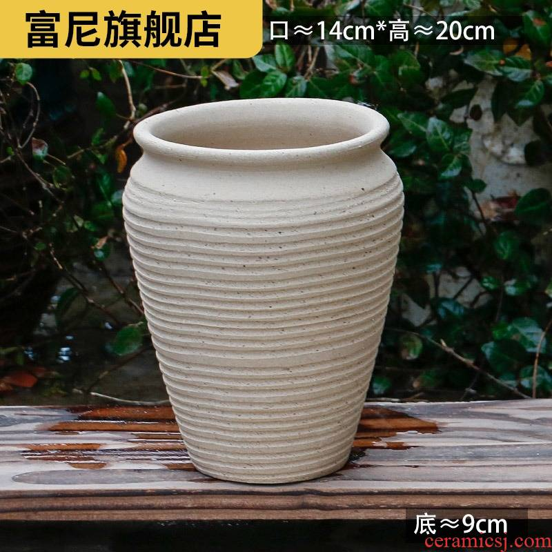 Rich, breathable flowerpot coarse pottery high creative new large ceramic flower pot pot clearance fleshy mage, tao