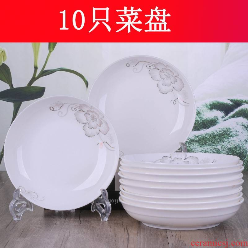 6 0 jingdezhen ceramic plates home dishes circular plate side dish soup plate deep dish plate tableware