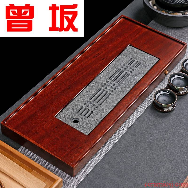 Once sitting hua limu tea tray was the whole piece of solid wood tea sea sharply stone tea tray was contracted household bakelite type tea table sheet