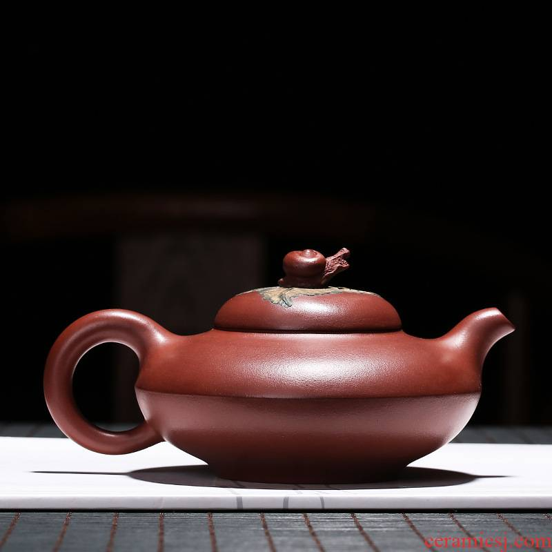 Yixing masters are it pure manual teapot undressed ore mud ruyi zhu kung fu tea cup teapot household