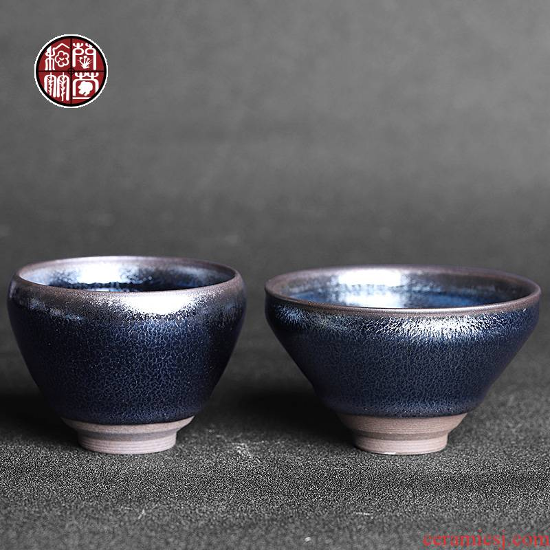 By patterns built light blue kirin to cup jianyang bowl masters cup ceramic large - sized kung fu tea cup of office