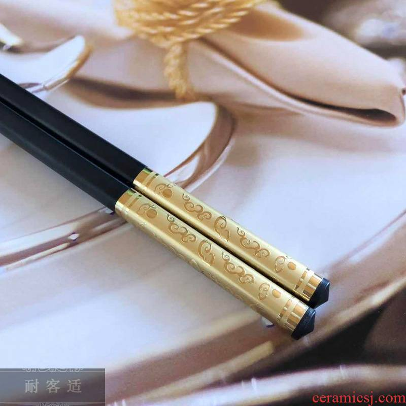 Hold to guest comfortable and healthy alloy chopsticks tableware Chinese wind restoring ancient ways Jin Longyin dragon traditional non - metallic chopsticks chopsticks alloy