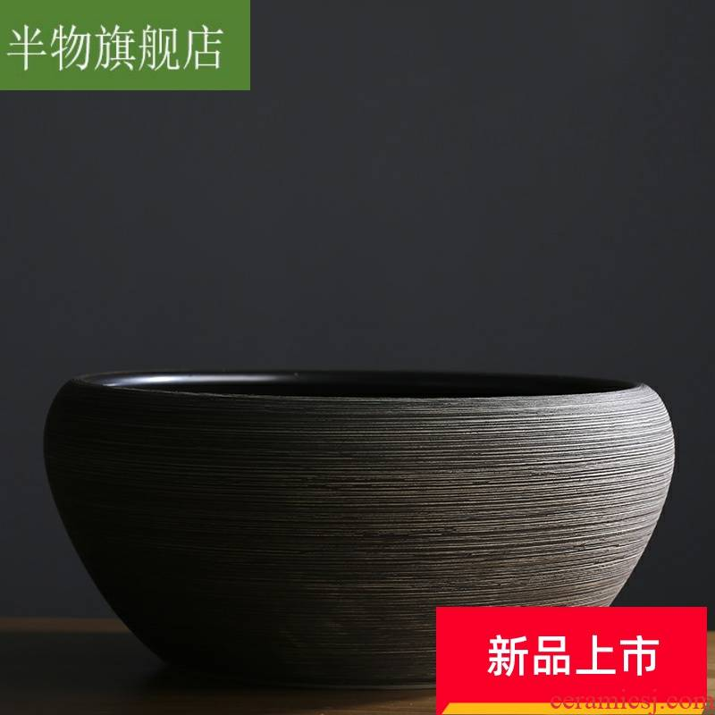 Ceramic hydroponic flower pot large bowl bowl lotus pond lily copper grass more than other meat potted garden goldfish bowl