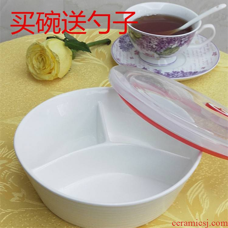 2020 new ceramic plate means household adult deepen three round ceramic plate plate, bowl, dish