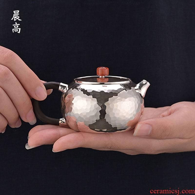 Morning high by bao tong xi shi silver pot home silver teapot 999 sterling silver teapot tea POTS, manual