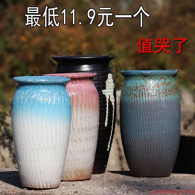 High pot chlorophytum flowerpot coarse pottery fleshy flower pot pot'm flesh bonsai pot clay POTS in the basin