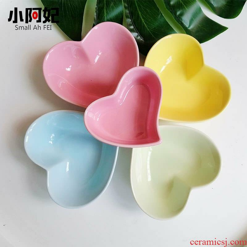 1 web celebrity love small bowl dessert bowl household fruit bowl creative ceramic tableware small snacks snacks dish flavor dishes