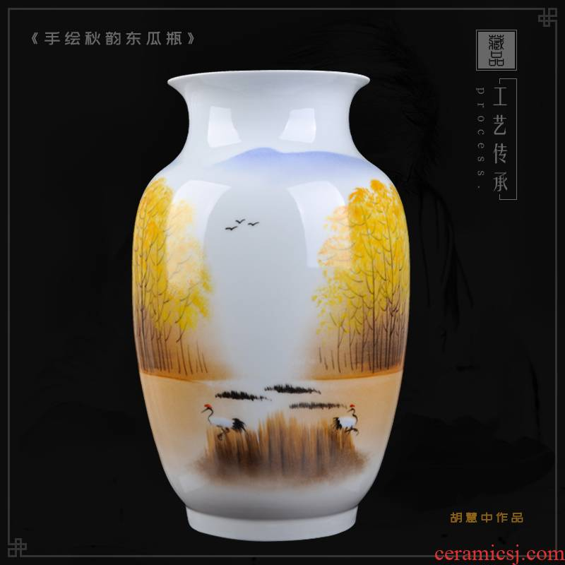 Jingdezhen ceramics hand - made celebrity cixin qiu - yun works famille rose porcelain vase art adornment handicraft furnishing articles in the living room
