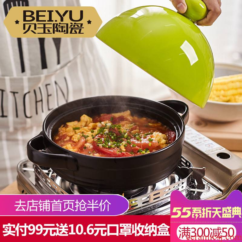 BeiYu tower JiGuo special ceramic soup rice casserole pot stew flame to hold to high temperature pot seed pot stewing cooking pot