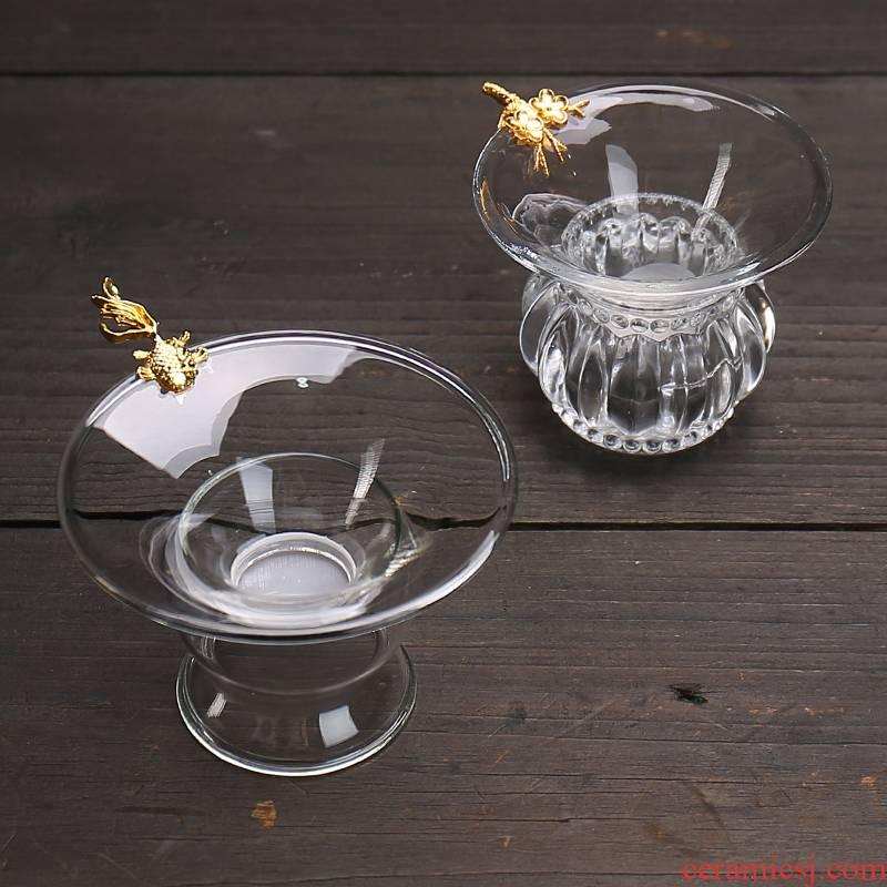 Devoted to inflammation) tea filter creative household glass tea strainer move make tea strainer kung fu tea tea accessories