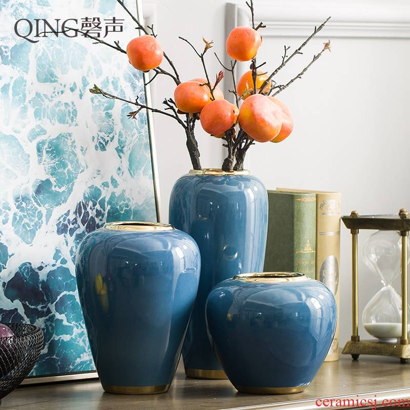European vase modern simulation flower arranging furnishing articles contracted sitting room porch TV ark, household ceramic jewelry dried flowers