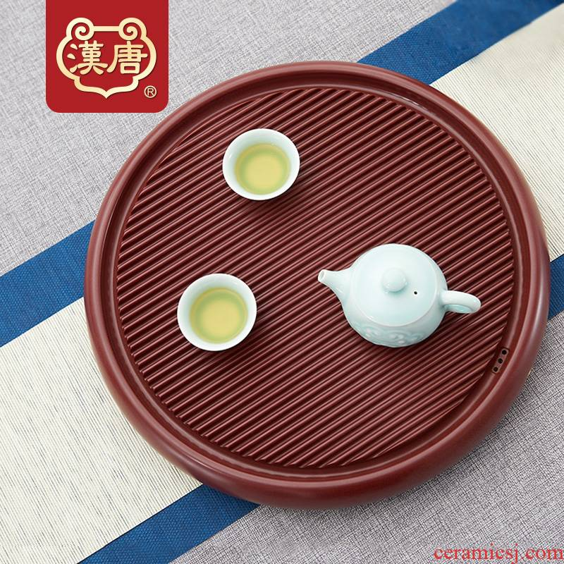 Han and tang dynasties electric bakelite tea tray household small kung fu tea tray was simple circular tea tea set single dry sea mercifully tea set