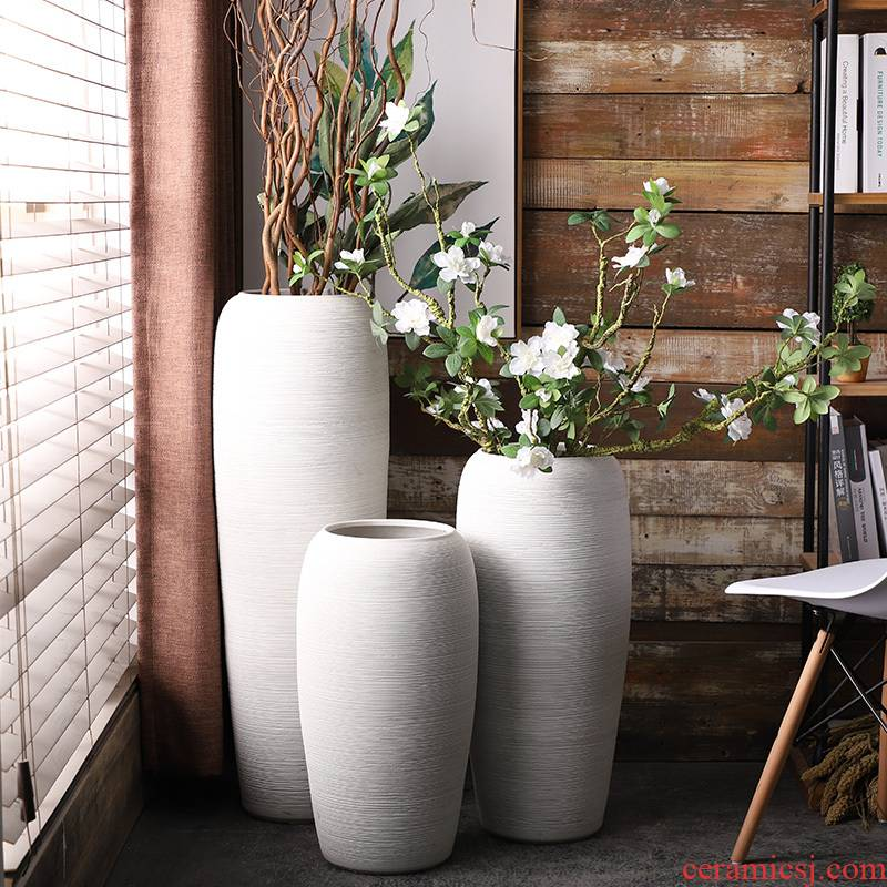 Nordic breeze ground ceramic vase planting dry flower is placed contracted and I sitting room flower arranging flowers large household decoration