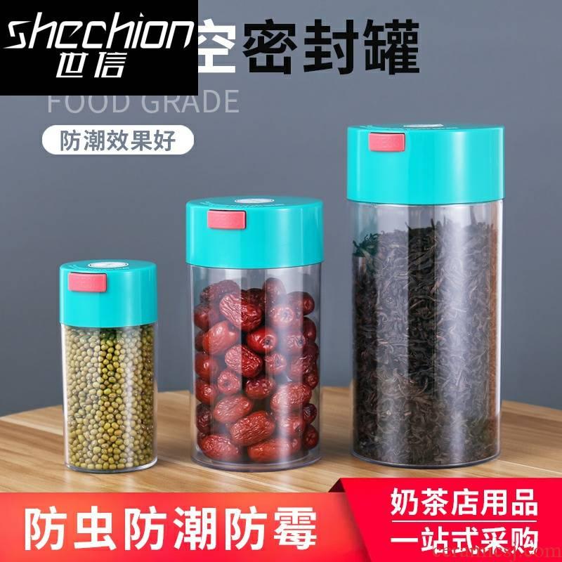 The letter sealed tank vacuum coffee beans preservation of snacks caddy fixings moisture - proof plastic utensils milk storage tanks