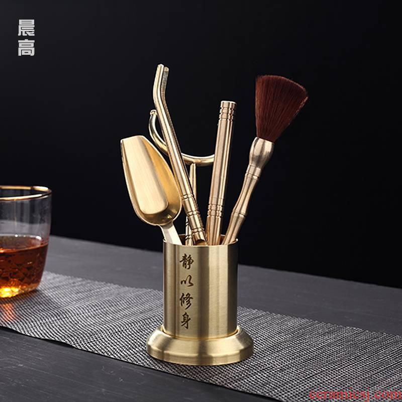 Morning high tea six gentleman 's suit ChaGa cooper fork spoon cup tea tweezers six gentleman tea tea accessories