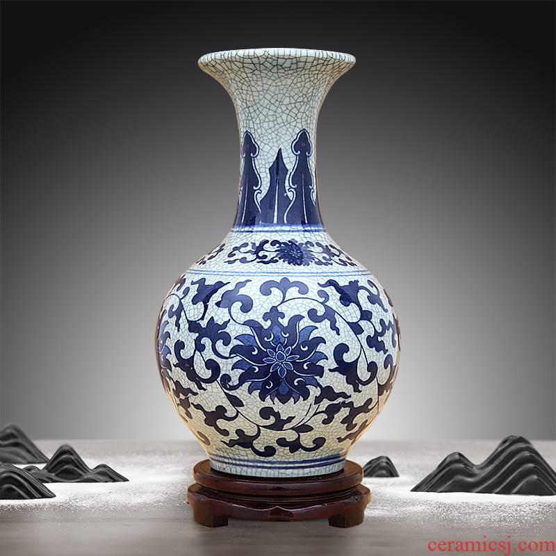 Jingdezhen ceramics large crackle vase antique decoration flower arrangement does shaft up of large vase