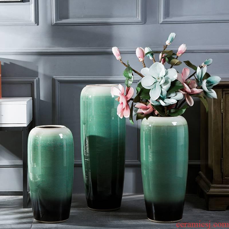 Jingdezhen ceramic hotel villa covers large vases, the sitting room porch flower flower decoration flower arranging furnishing articles