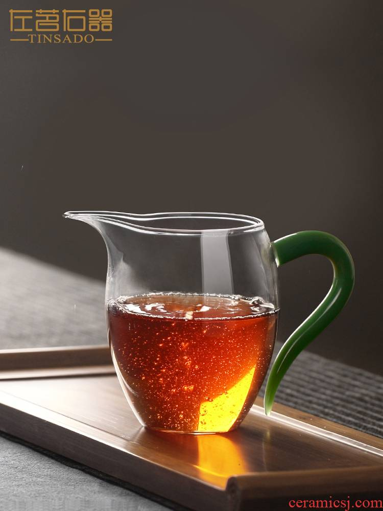 ZuoMing right implement fair transparent heat - resistant glass cup upset with the chick kunfu tea and a cup of tea is the tea set