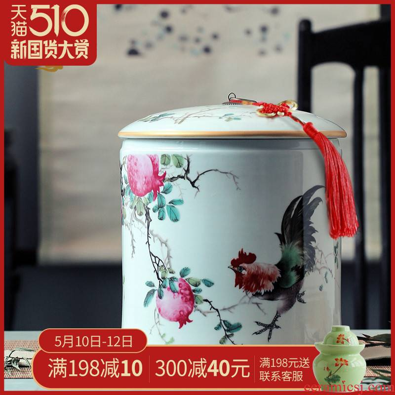 Ceramic barrel 10 jins ricer box meter box household storage storage tea cake cylinder cylinder of bread receives, the seventh, peulthai the POTS