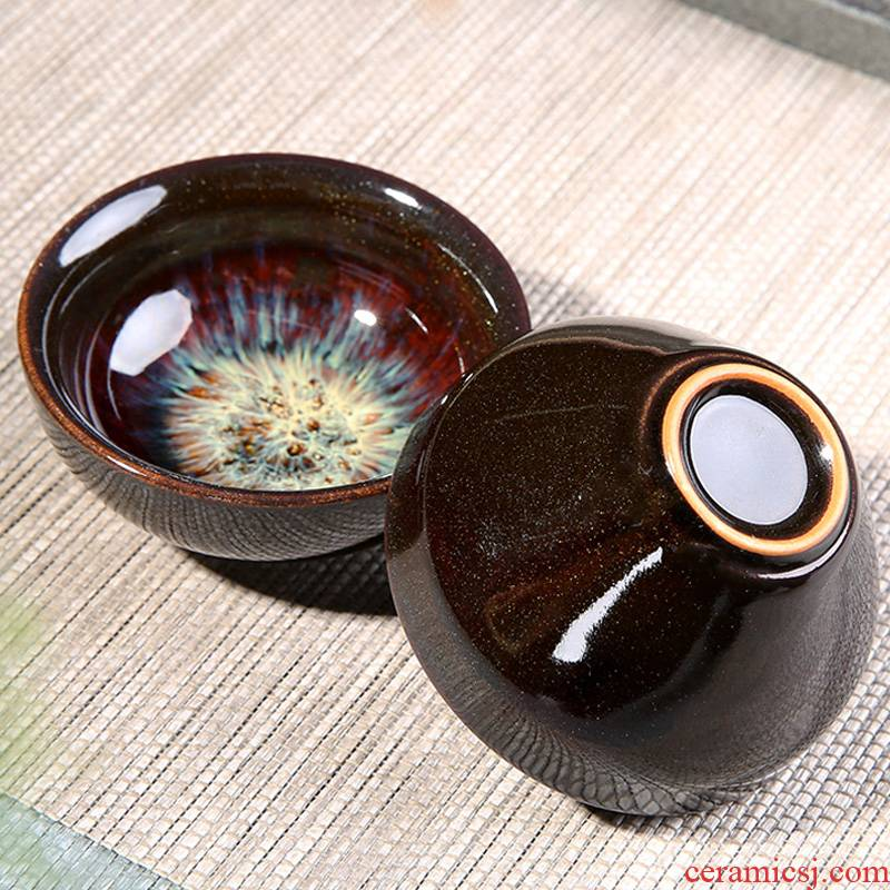 Porcelain heng tong kung fu tea tea cup sample tea cup small household ceramics up master single building lamp cup bowl