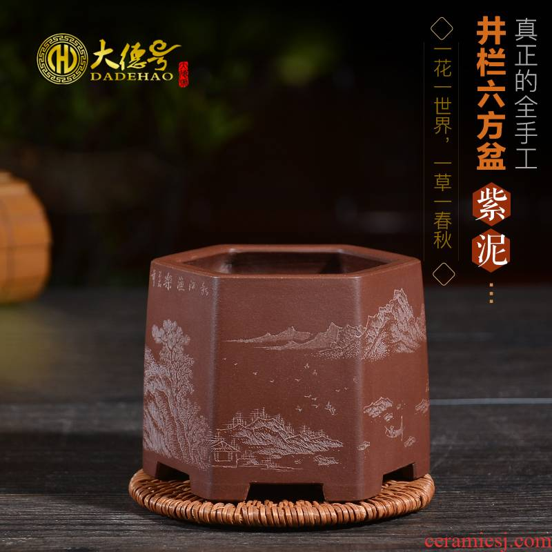 Greatness, all hand - made by fine carved made miniature meaty plant asparagus ponies chunlan purple sand flowerpot