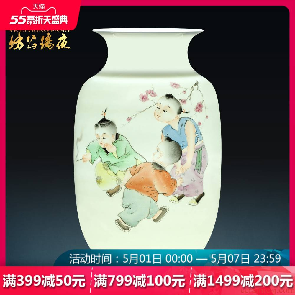 Jingdezhen ceramics vase living room flower crafts blockbuster Chinese jewelry home furnishing articles