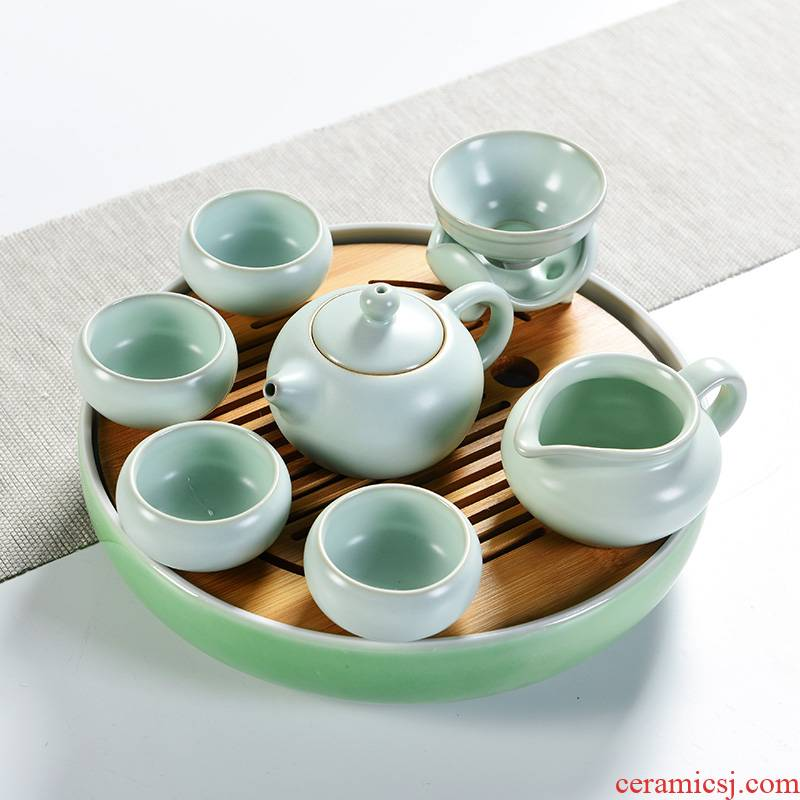 Japanese porcelain god portable dry tea tray ceramic contracted kung fu tea set suits for your up travel home teapot tea table
