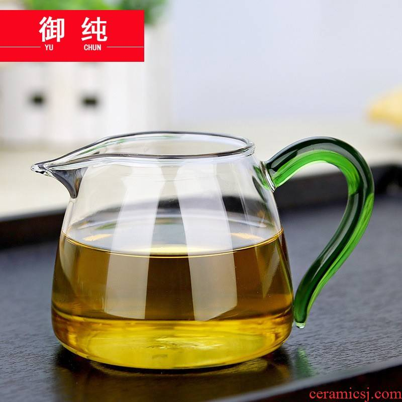 Royal pure manual reasonable refractory glass cup tea silicon glass tea set tea sea