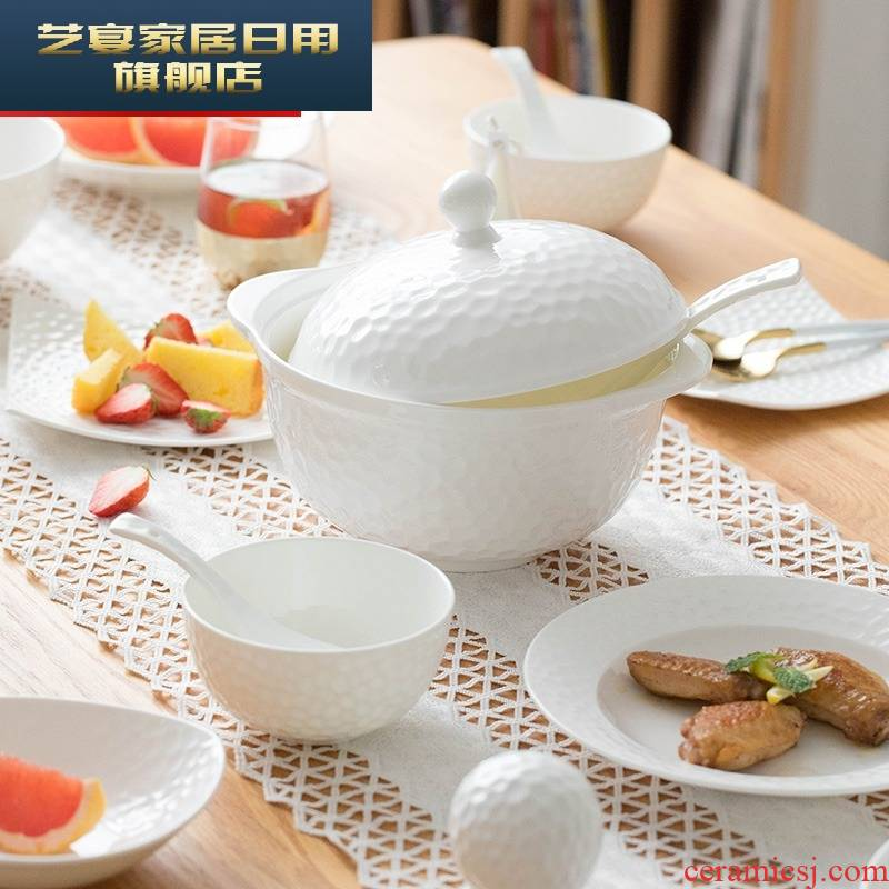 Move dishes suit household 4/6 people eat the new ipads China tableware creative dish bowl of nice ceramic dishes
