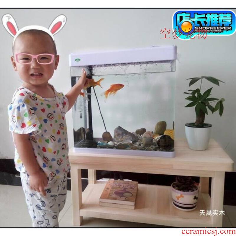 Pine wood fish tank chassis bottom ark base frame overhead dream home sitting room aquarium place other people